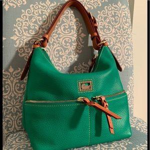 Authentic Dooney & Bourke Satchel Green PERFECT!